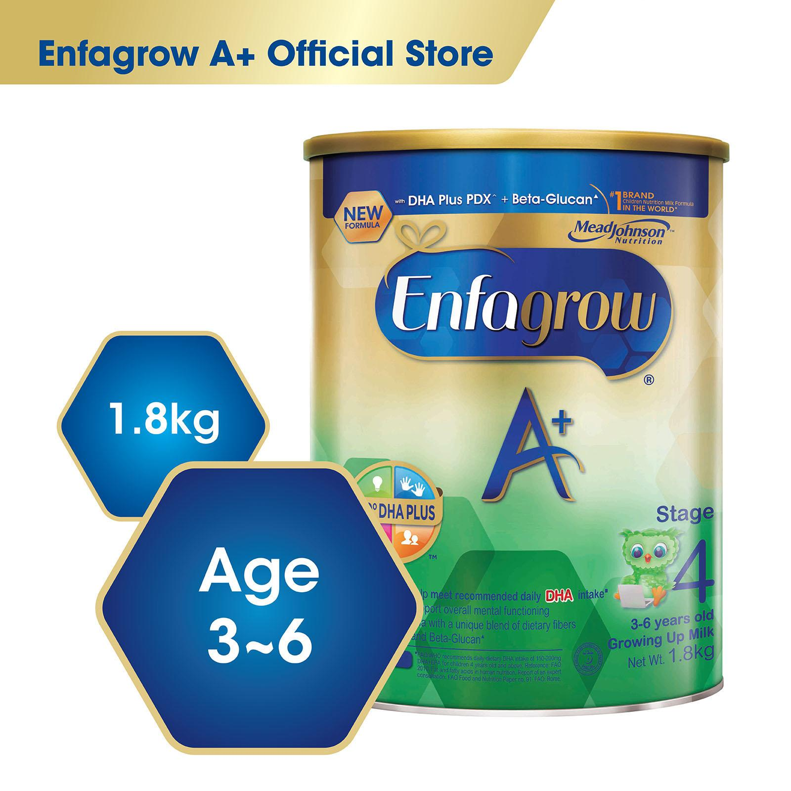 Review Enfagrow A With 360O Dha Plus Stage 4 Milk Formula 1 8Kg Enfagrow