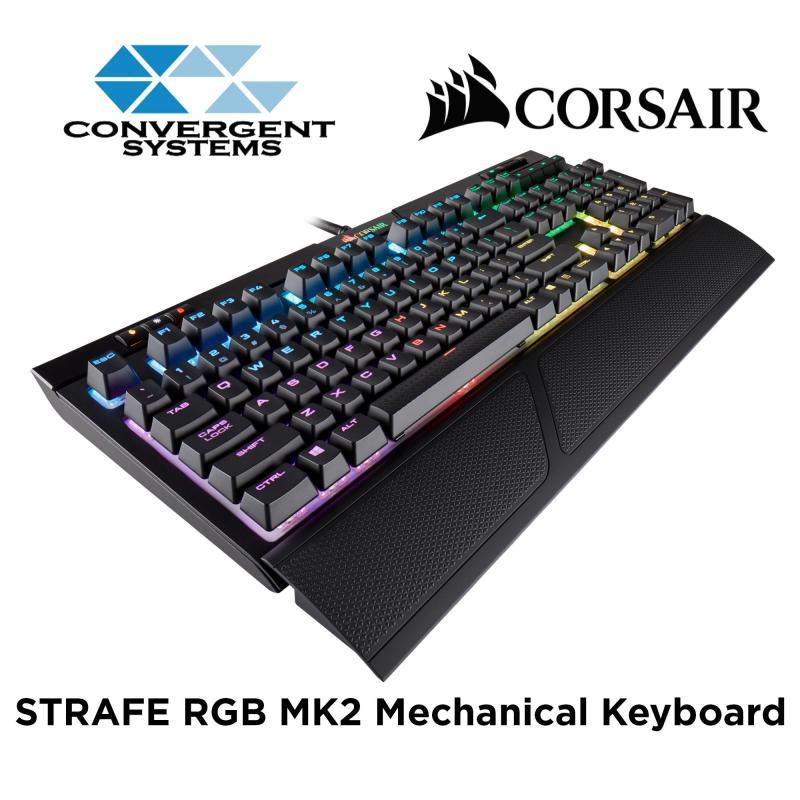 Corsair STRAFE RGB MK.2 Mechanical Gaming Keyboard - Cherry MX Red RGB Singapore