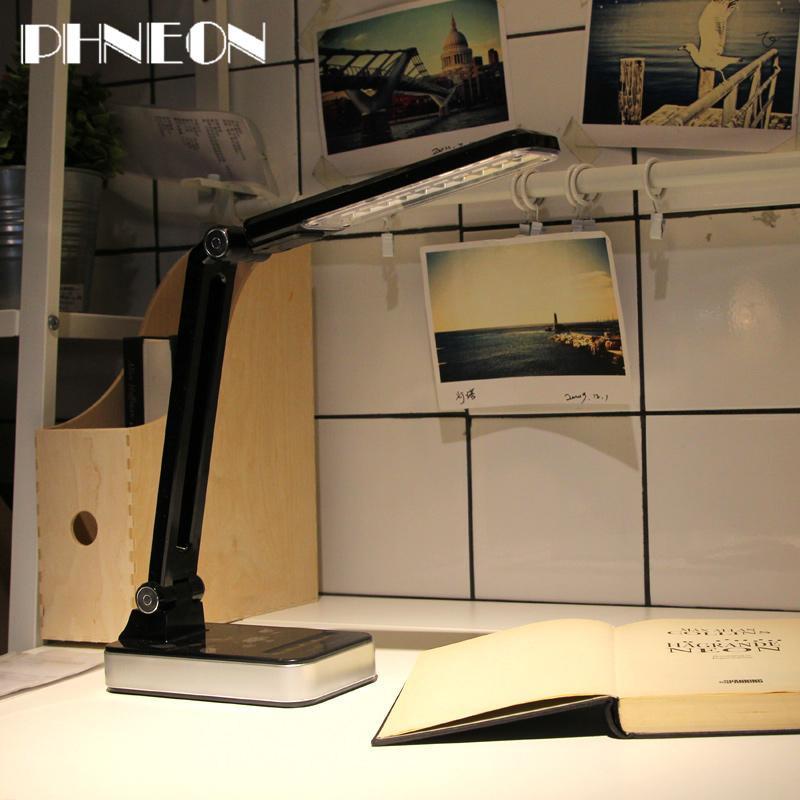 PHNEON Led Desk Lamp 1.8w Adjusted Lexibly Table Light Non-limit Brightness 30pcs Led Ac 110v-220v Black/white Usa/eu/uk Plug