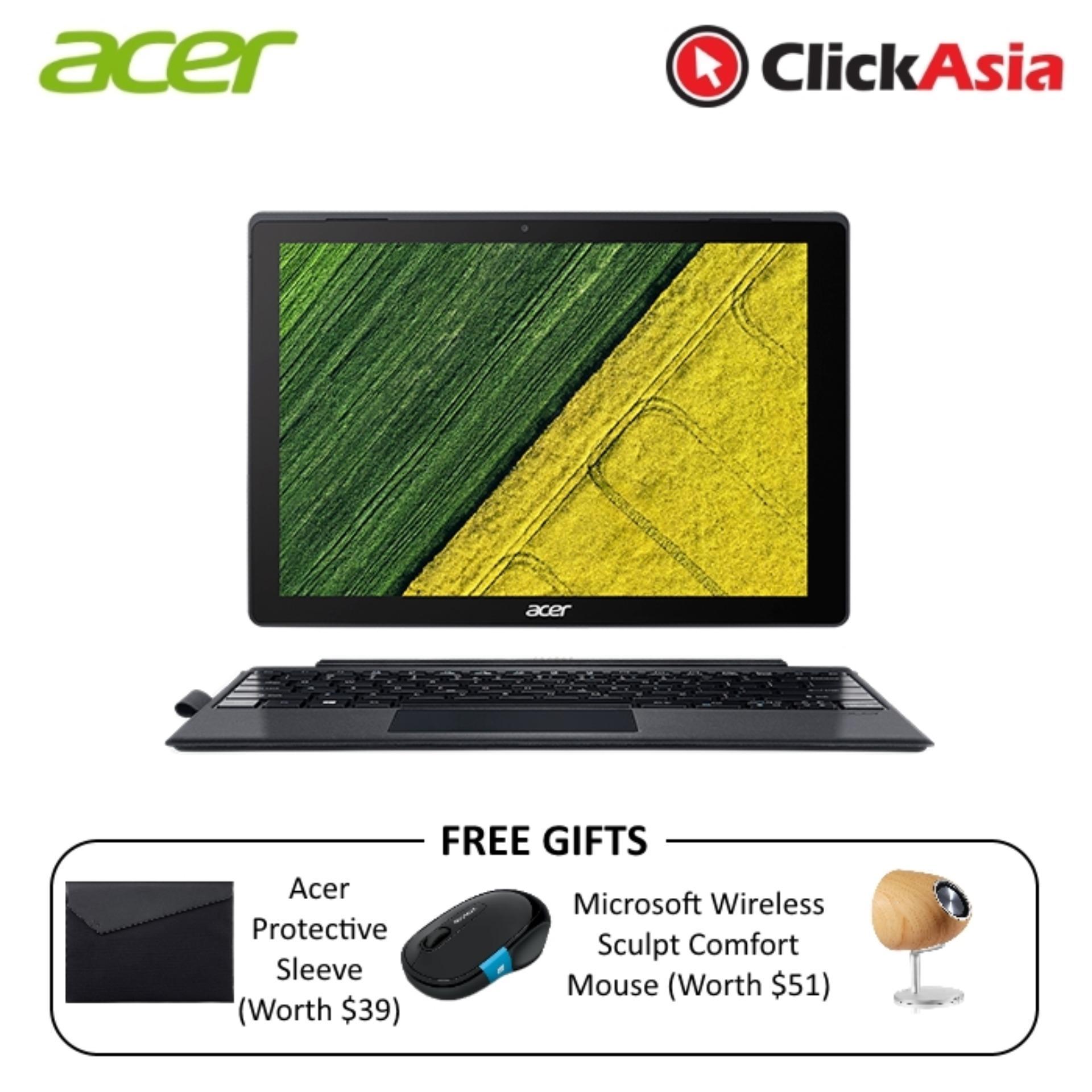 Sale Acer Switch 5 Sw512 52 57T9 12 Touchscreen I5 7200U 8Gb Ddr3 256Gb Ssd W10 Black