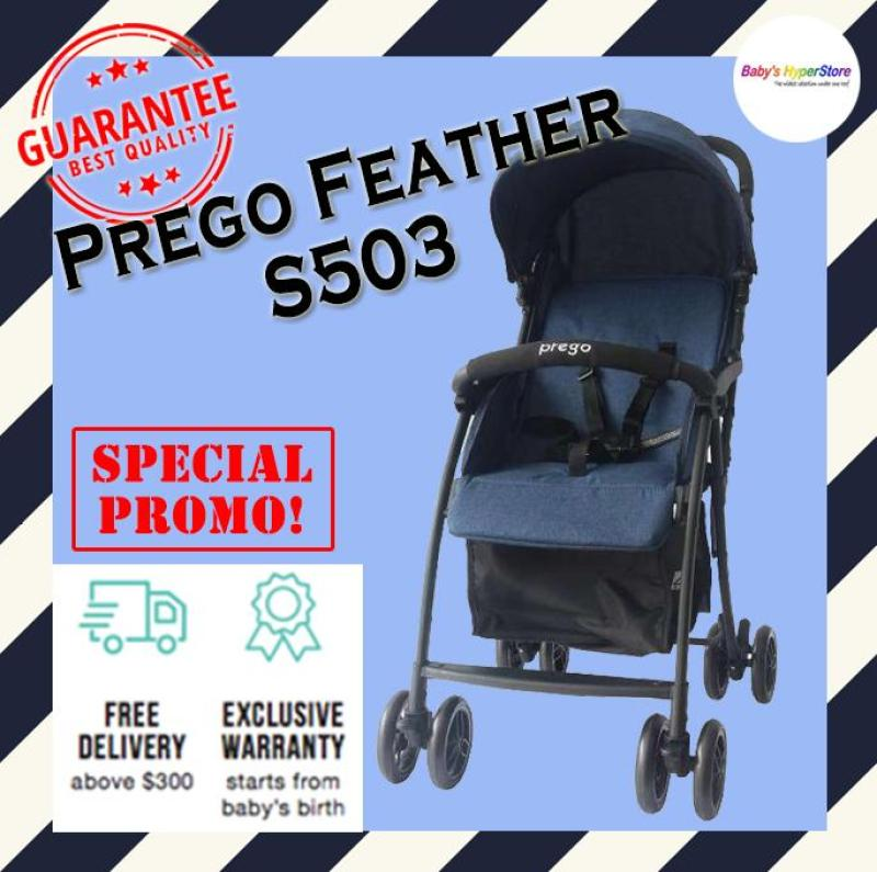 Prego Feather F503 Stroller - As light as feather from 3.7kg only!!! LOCAL seller warranty Singapore