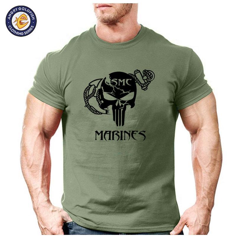 83966c22d736a1 2019 New Fashion Premium Design Men T-shirt Short Sleeve Marine Corps Tops  The Darth