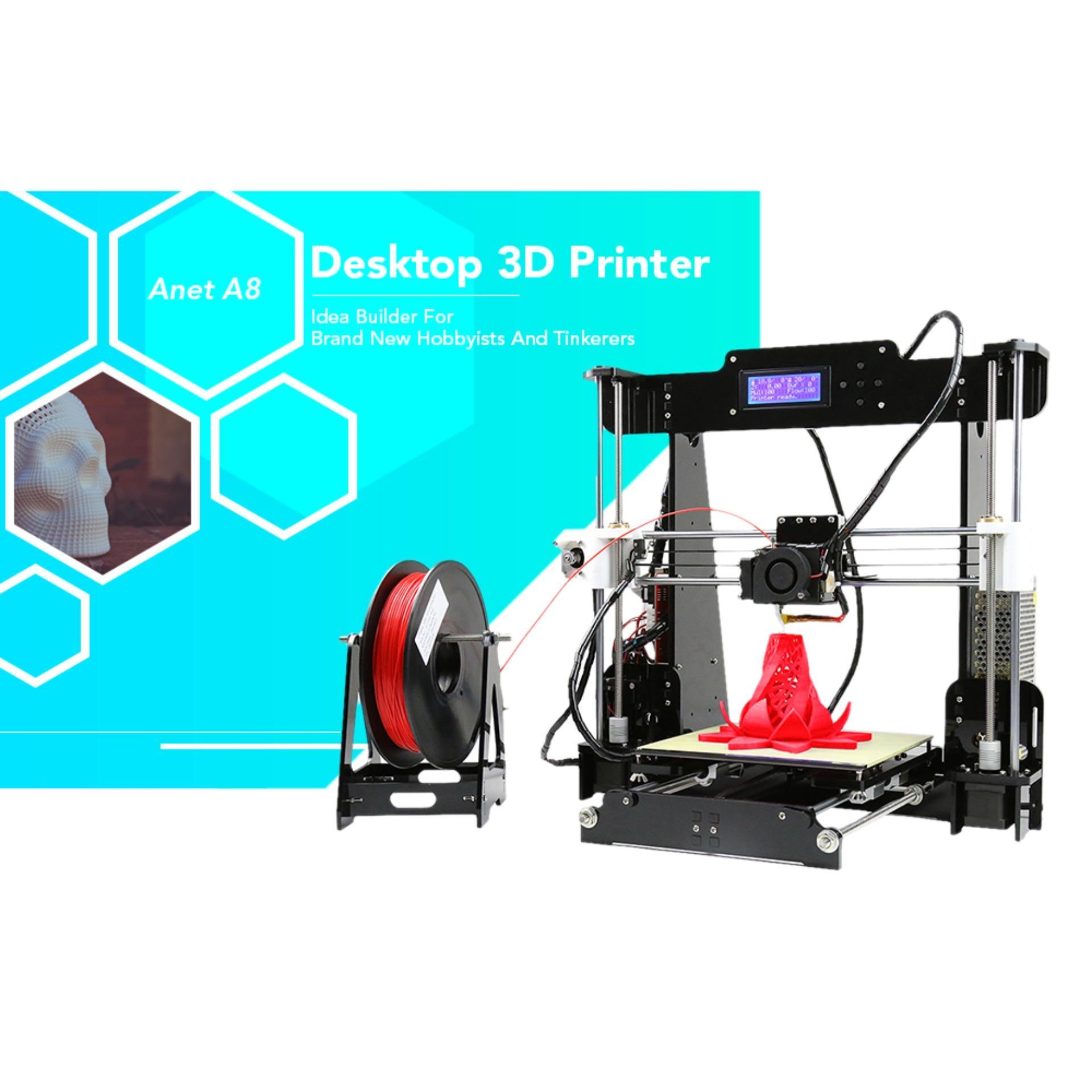 Anet A8 High Accuracy 3D Desktop Printer Prusa I3 DIY Kit(UK PLUG) - intl  Singapore