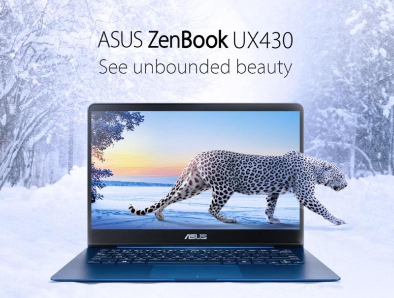 Asus zenBook 14 Ux430un-gv027t Ultra Thin & Light / i7-8550u 1.8GHZ /16GB Ram / 512GB ssd / Nvidia Graphic Mx150 2GB DDR5 / 14inc LED-Backlit Ultra Slim FULL HD 1920x1080 / 2years International Warranty