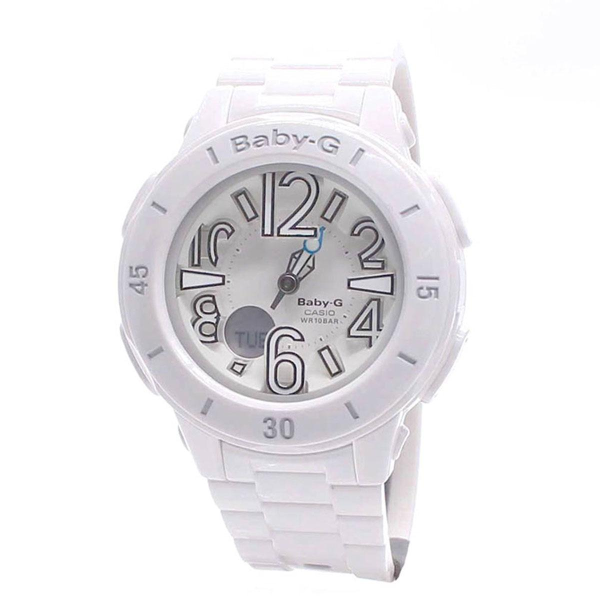 Who Sells The Cheapest Casio Watch Baby G Neon Illuminator White Resin Case Resin Strap Ladies Bga 170 7B1 Online
