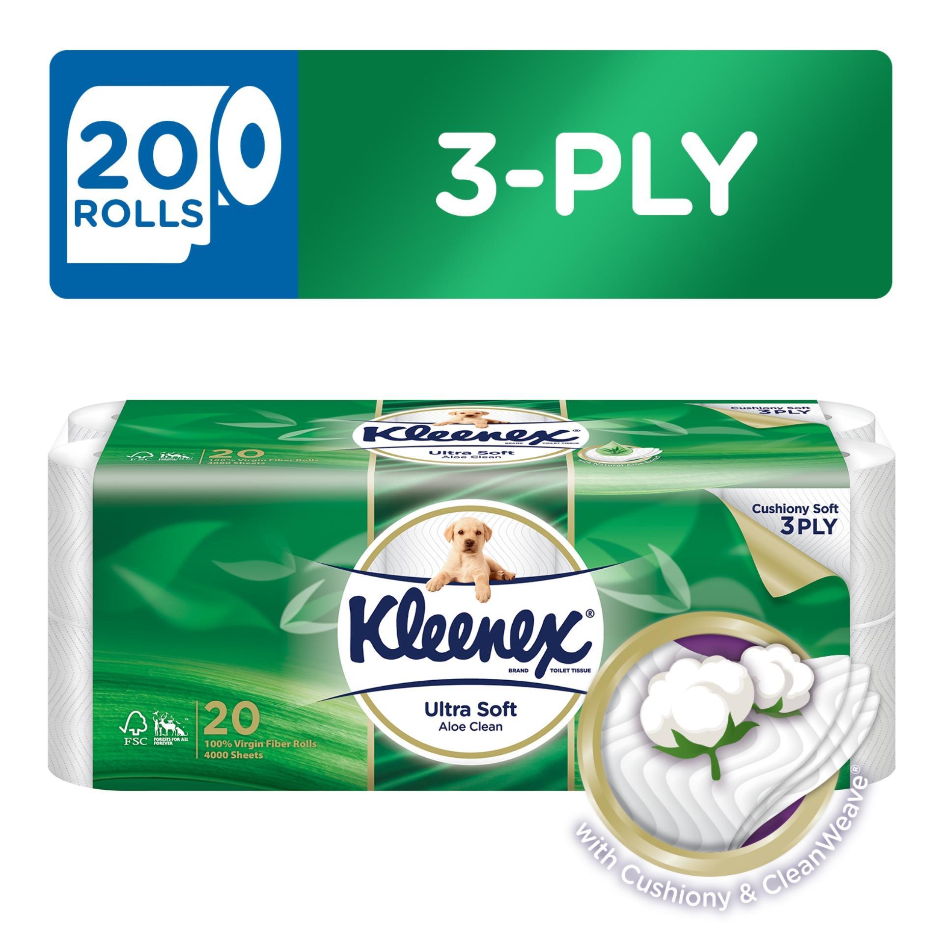 Buy Kleenex Clean Care Bath Tissue Aloe Vera 20X200Sheets Cheap On Singapore