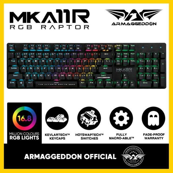 Armaggeddon Mechanical Gaming Keyboard MKA-11R(New) Fully Macro-able™ Singapore