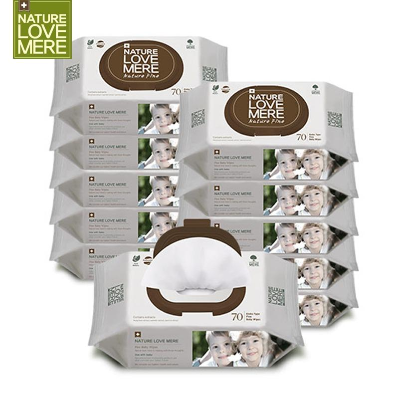 Best Offer 【Nature Love Mere】Fine Cap Carton 700Pcs Korea Natural Premium Baby Wet Wipes