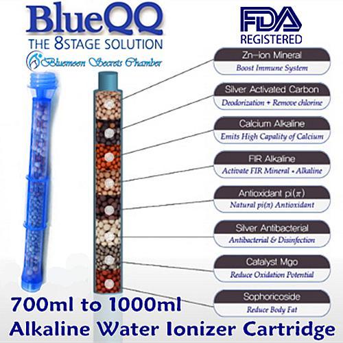 Low Price Blueqq Portable Alkaline Mineral Water Ionizer Bottle 500Ml 700Ml 1000Ml Cartridge