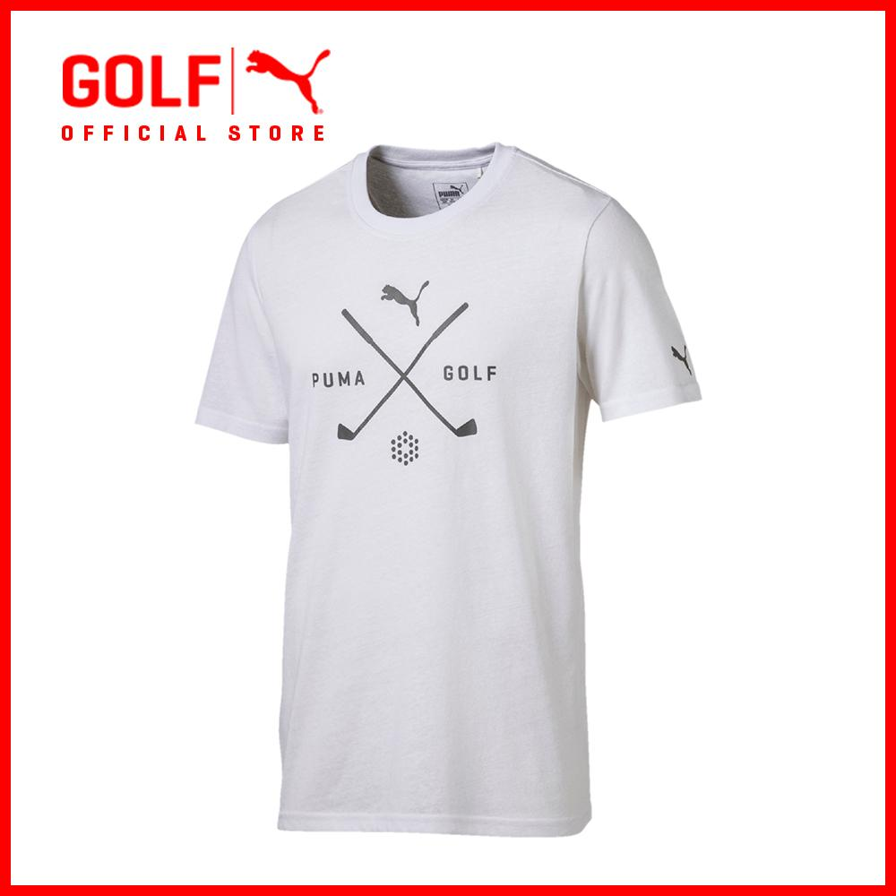 Compare Price Puma Golf Men Golf Shield Tee Bright White On Singapore