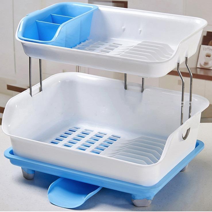 Retail Tableware Chopsticks Storage Box Dishes Drip Rack Water Draining Dish Rack