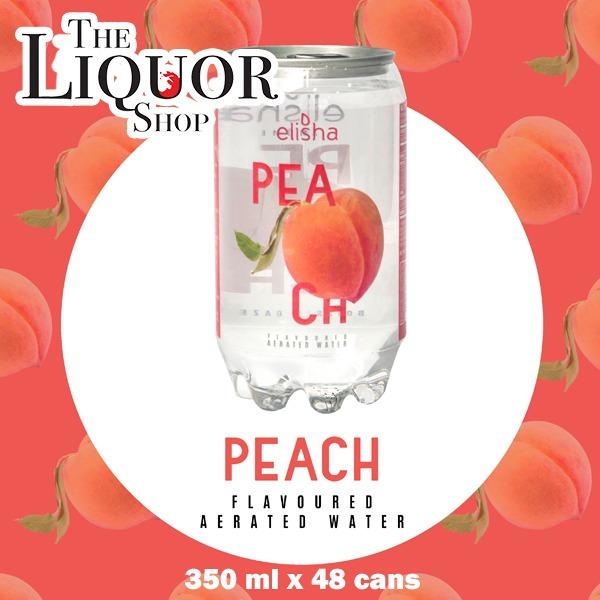 Clearance Sale 2 Carton Elisha Peach Flavoured Aerated Water 350Mlx48Can Expiry 27June 2018 Best Buy