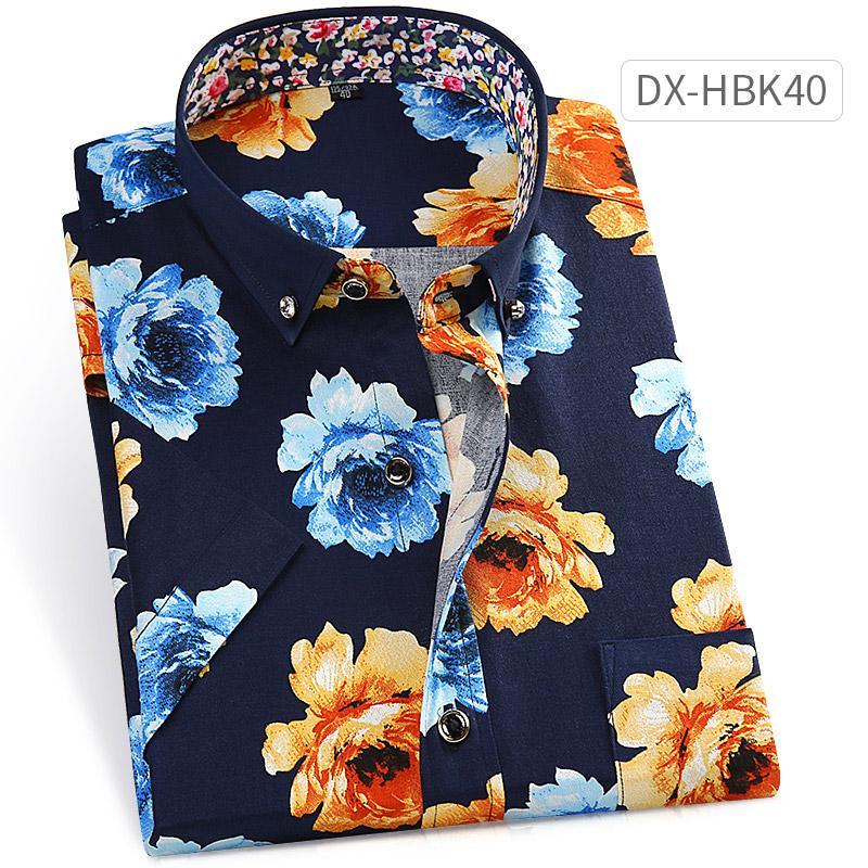 เสื้อเชิ้ต ผู้ชาย พิมพ์ลาย ไม่ต้องรีด สไตล์เกาหลี (dx-Hbk40) (dx-Hbk40) By Taobao Collection.