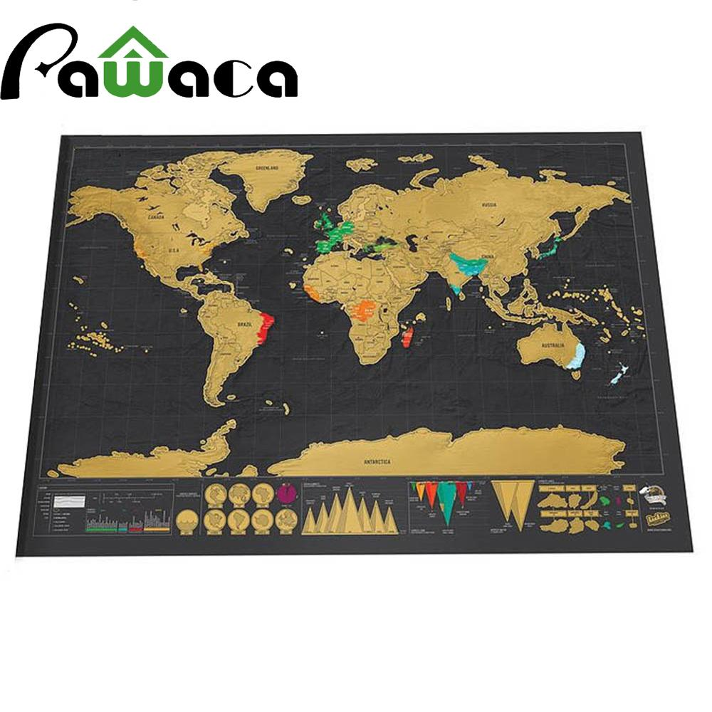 Buy designer wall art home decor online lazada pawaca scratch off world map black deluxe travel map poster personalized journal gift gumiabroncs Gallery