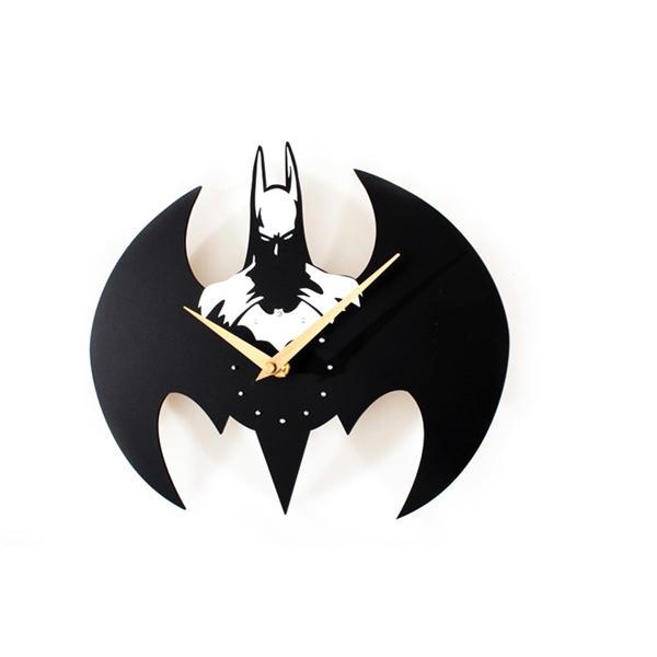 Fashion Batman Wall Clock / Quartz Watch Clocks Batman Modeling (White) - intl