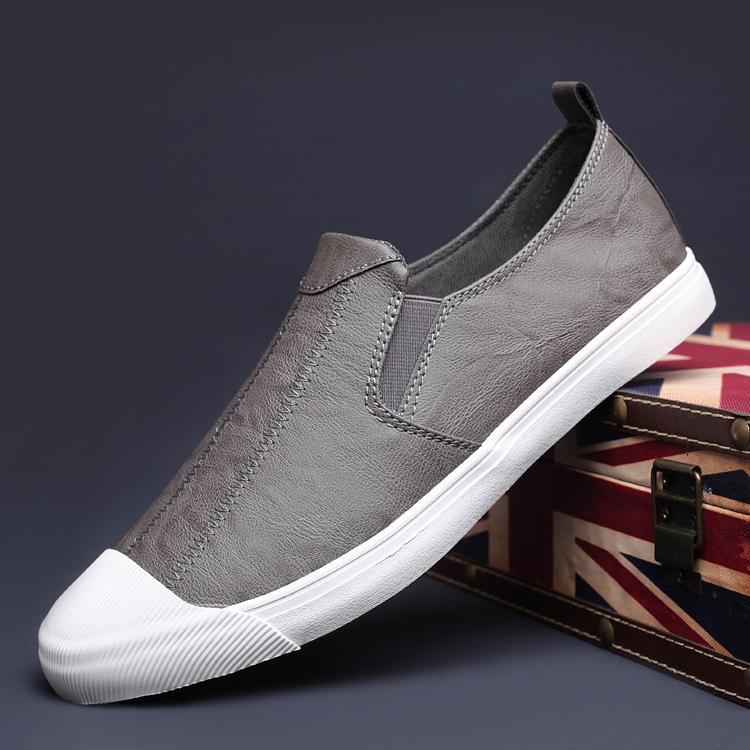 Sepatu pria musim semi sepatu trendi Carrefour sepatu kasual mudah dipakai Sepatu malas pria musim panas