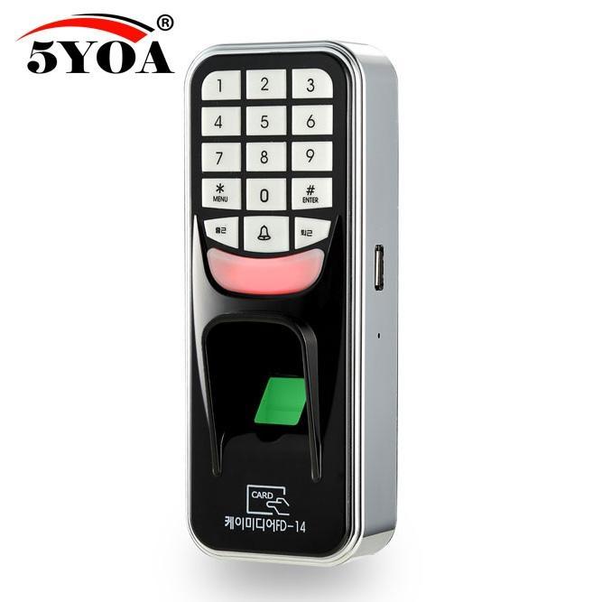 Biometric Fingerprint Access Control Machine Digital Electric RFID Reader Scanner Sensor Code System For Door Lock