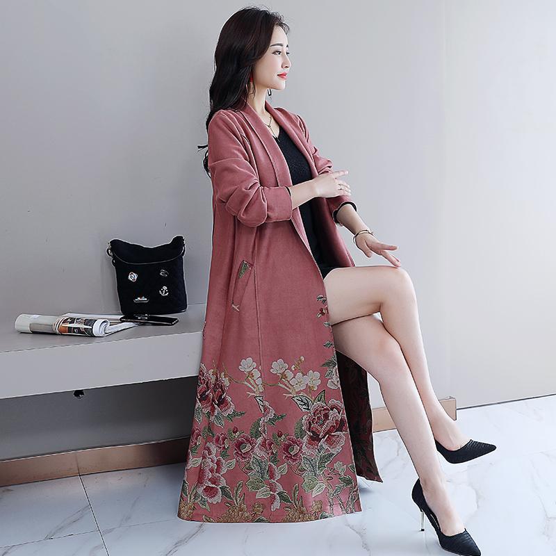 foto kandid membentuk tubuh model setengah panjang 2019 musim gugur dan musim dingin model baru beludru kulit rusa jaket wanita tali sepatu jaket angin by koleksi taobao.