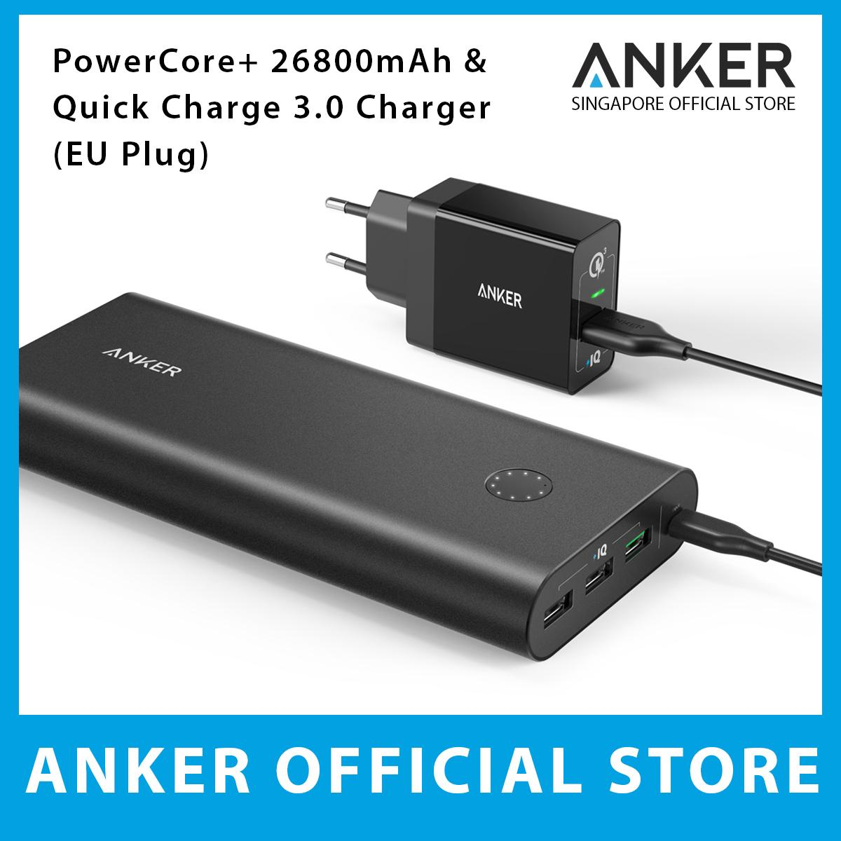 Anker Powercore 26800Mah Powerport 1 Quick Charge 3 Charger Euro Plug Cheap