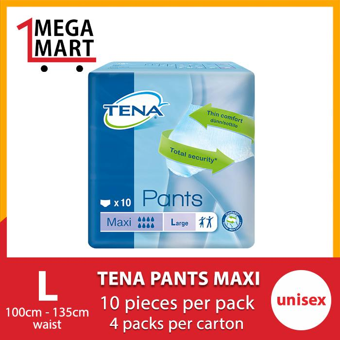 Retail Price Megamart Tena Pants Maxi L 4 X 10S Carton Sales