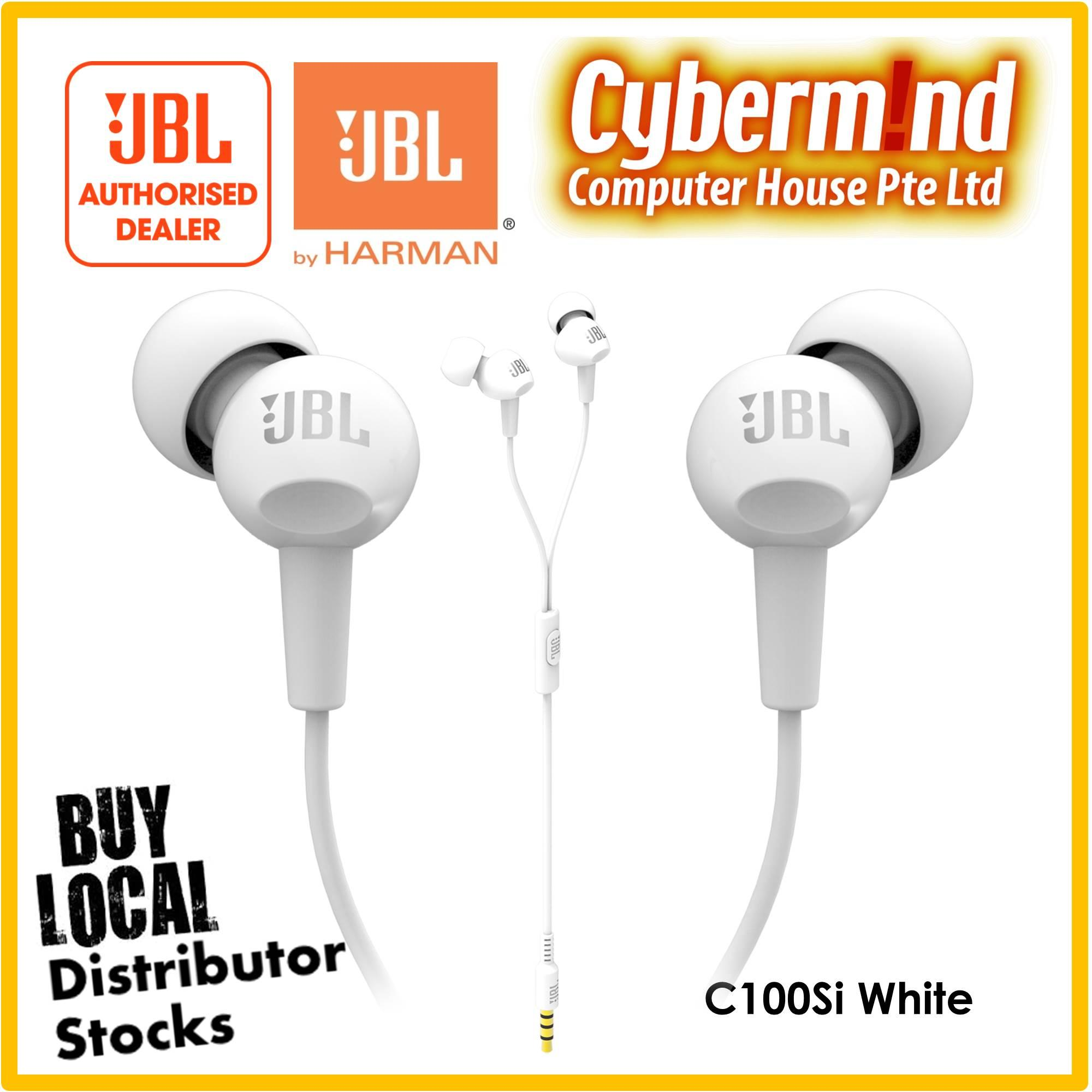 Jbl C100Si In Ear Headphones With Mic White Lower Price