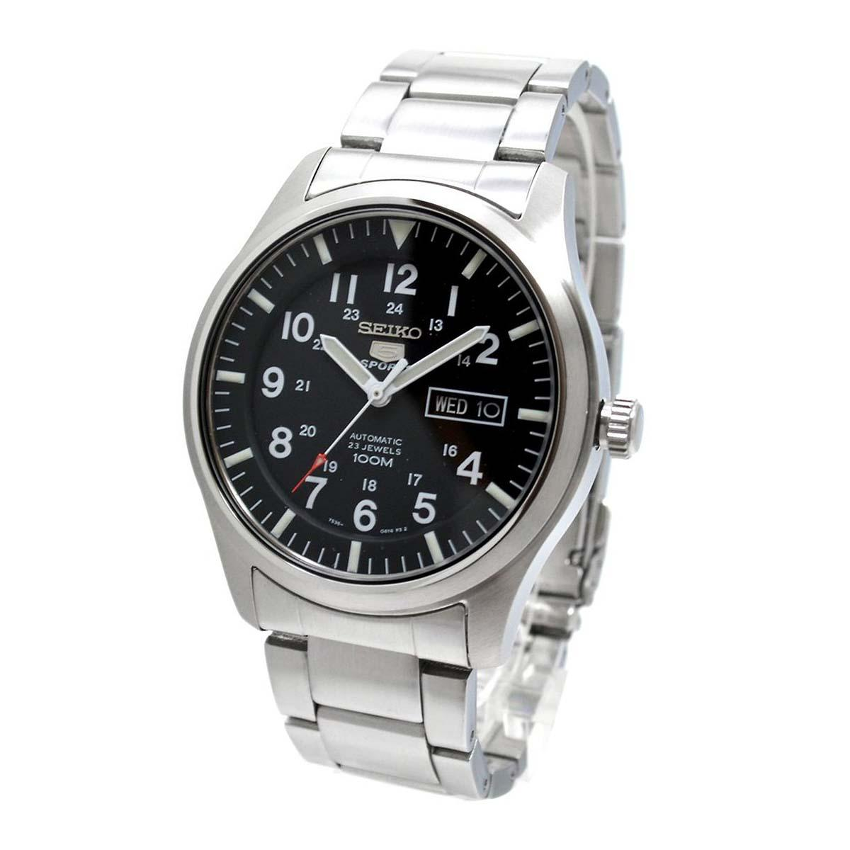 Wholesale Seiko Watch 5 Sports Silver Stainless Steel Case Stainless Steel Bracelet Mens Japan Snzg13J1