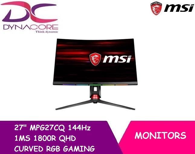 MSI 27 MPG27CQ 144Hz 1MS 1800R QHD CURVED RGB GAMING MONITOR(3YRS)
