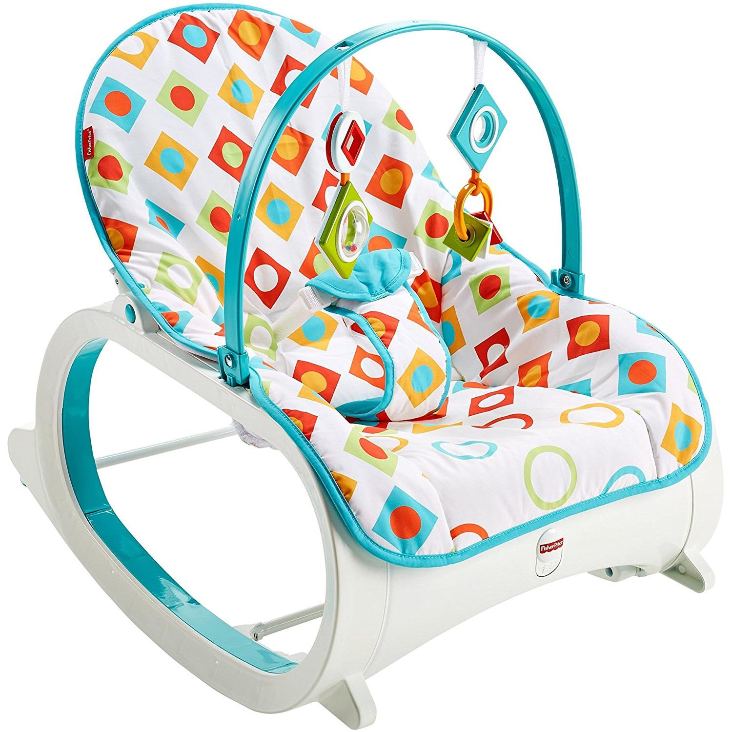 Great Deal Fisher Price Cmp83 Infant To Toddler Rocker Geo Diamonds