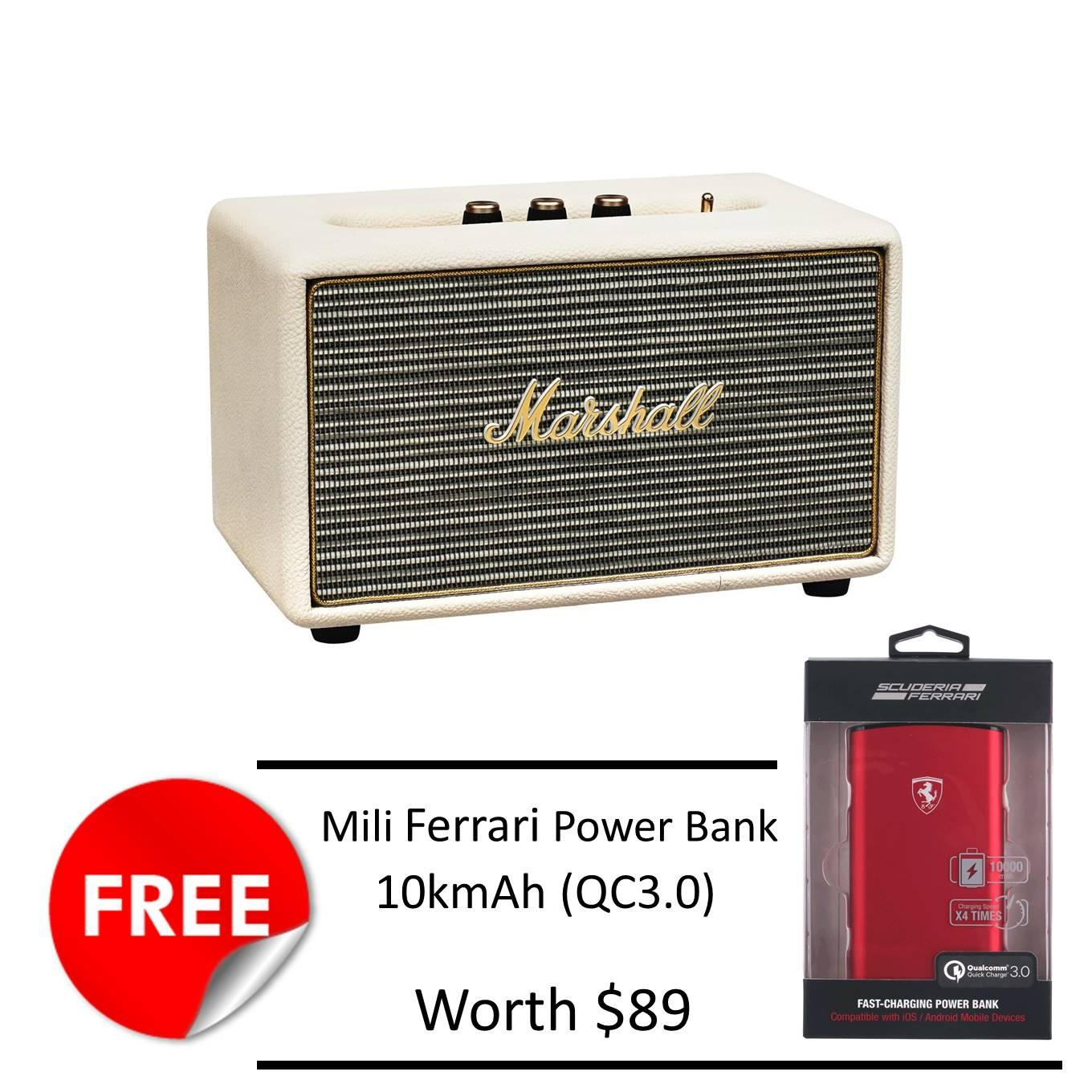 Marshall Stanmore Bluetooth Speaker Cream Free Mili Ferrari 10Kmah Powerbank Discount Code