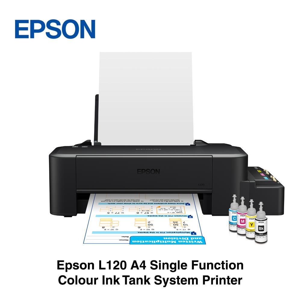 Epson L120 A4 Single Function Colour Ink Tank system printer Singapore