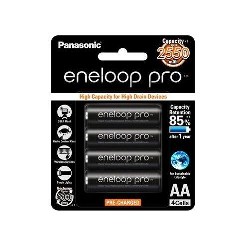 Low Price 4X Panasonic Eneloop Pro 2450Mah Aa High Capacity Rechargeable Batteries New
