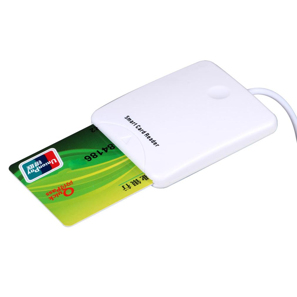 White ABS 0 - 60°C USB Contact Smart Chip Card IC Cards Reader With SIM Slot for Windows Me/for 2000/XP/ or for MAC OS 8.6,9.X