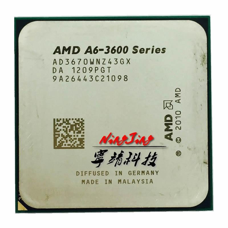 AMD A6-Series A6-3670K A6 3670 K 2.7 GHz Quad-Core Prosesor CPU AD3670WNZ43GX Socket FM1-Intl