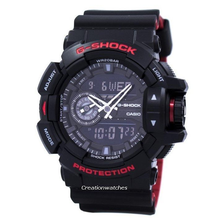 Price Casio G Shock Analog Digital Men S Black Resin Strap Watch Ga 400Hr 1A Casio Singapore
