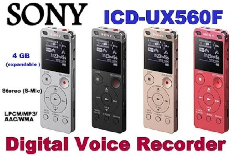 Sony 4GB Digital Voice Recorder ICD-UX560F Singapore