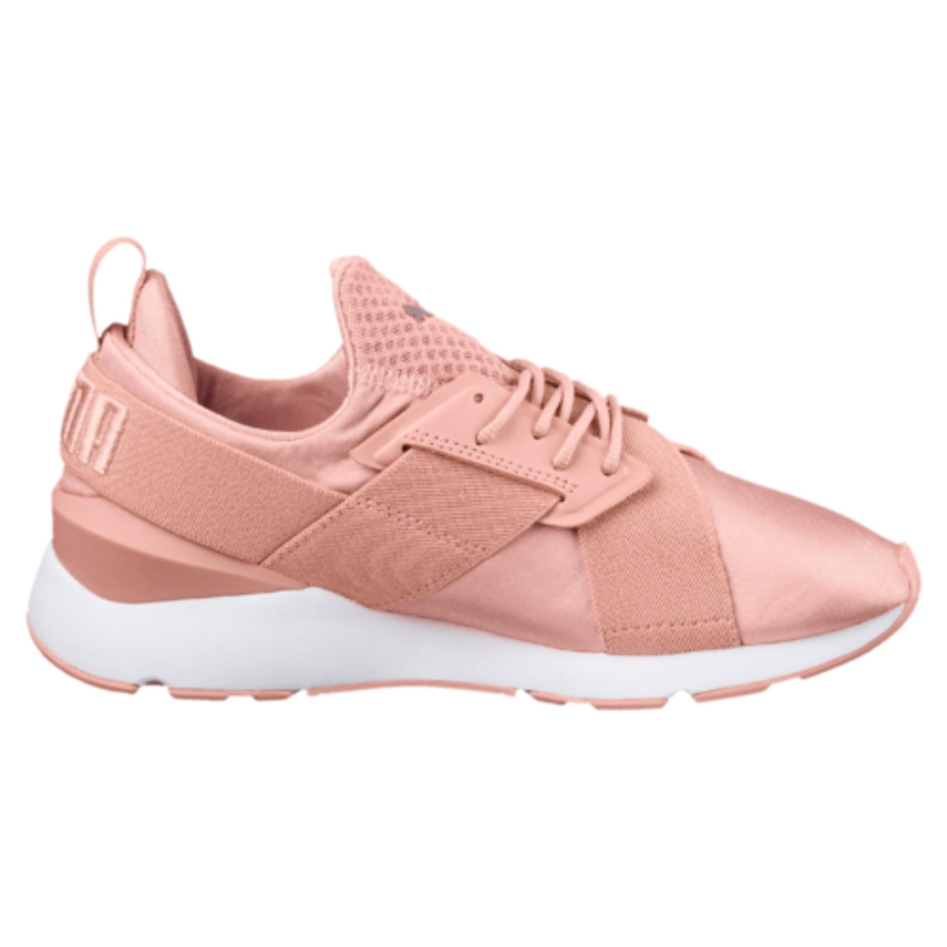 Best Reviews Of Puma Muse Satin Ep Women Sneakers Peach Beige Puma Whitepeach Beige Puma White