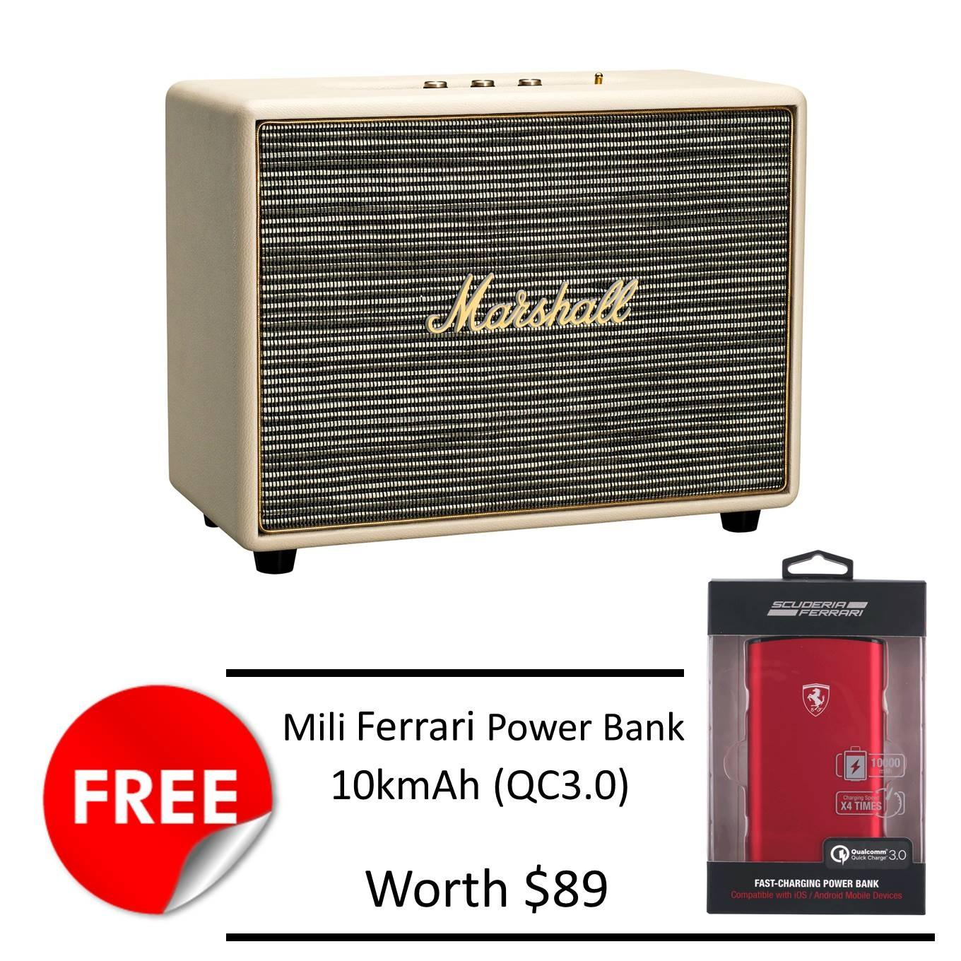 Price Marshall Woburn Speaker Cream Free Mili Ferrari 10Kmah Powerbank Marshall New