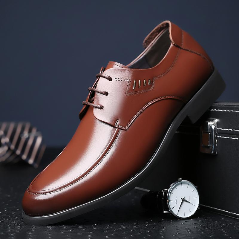 Cheaper Laorentou Casual Delivery Summer Porous Leather Shoes