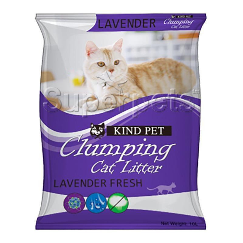 Discount Kind Pet Fine Clumping Sand Cat Litter 10L Lavender Kind Pet Singapore