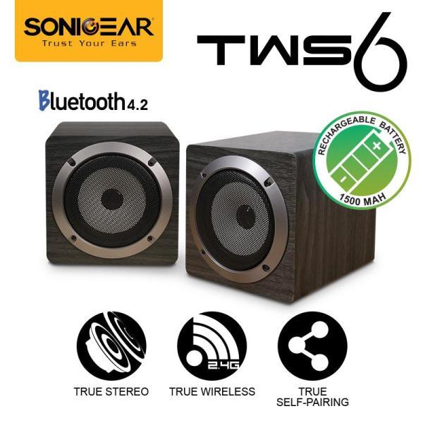 TWS 6 True Stereo Wireless (Self-Pairing) Speaker System By SonicGear Singapore