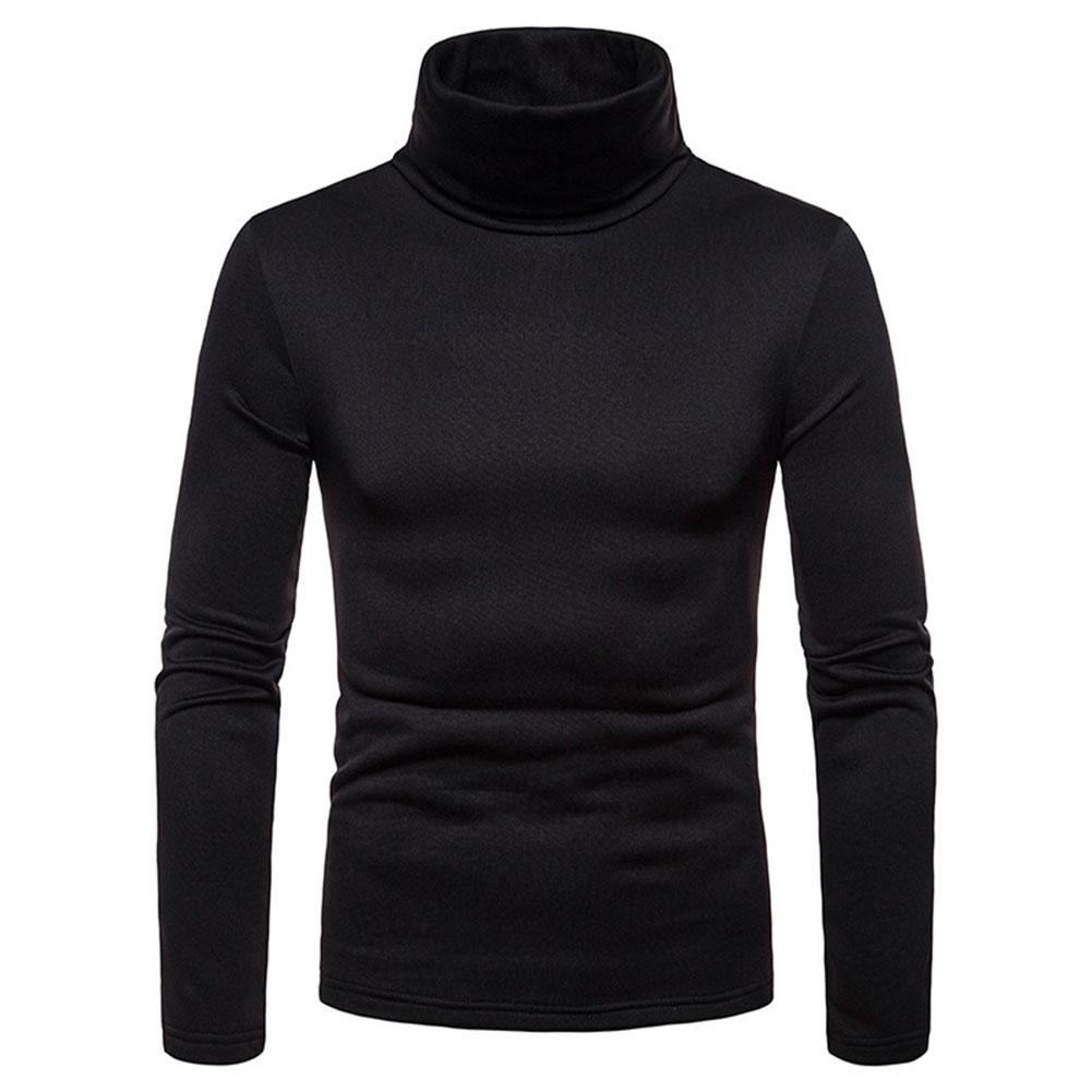 36646e15fee01 Men s sweater High Neck Thermal Sweaters Cotton Stretch Turtleneck Shirt  Tops