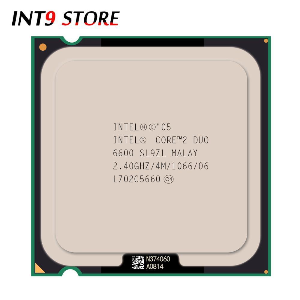 Asli Intel CPU Core 2 Prosesor Duo E6600 2.40 GHz/4 M/1066 MHz Dual-Core Socket 775 cepat Kapal-Intl