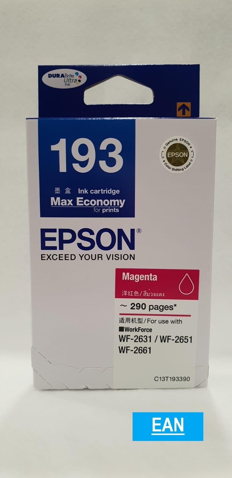 Buy Sell Cheapest Epson T252220 Best Quality Product Deals Cartridge Lx310 T193 Magenta Ink For Wf 2631 Wf2651 Wf2661 C13t193190 193 T1933 T193390