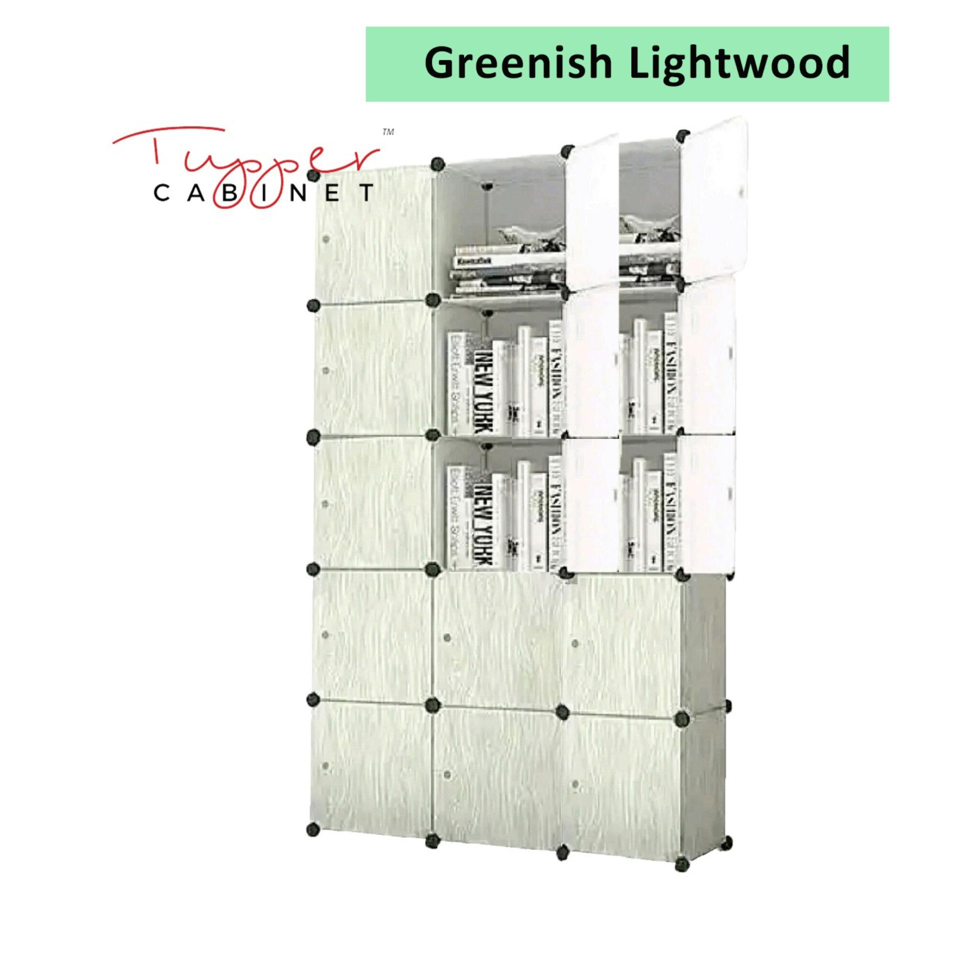 Deals For Tupper Cabinet Light Wood 15 Cubes Storage Cabinet Beauty Collection