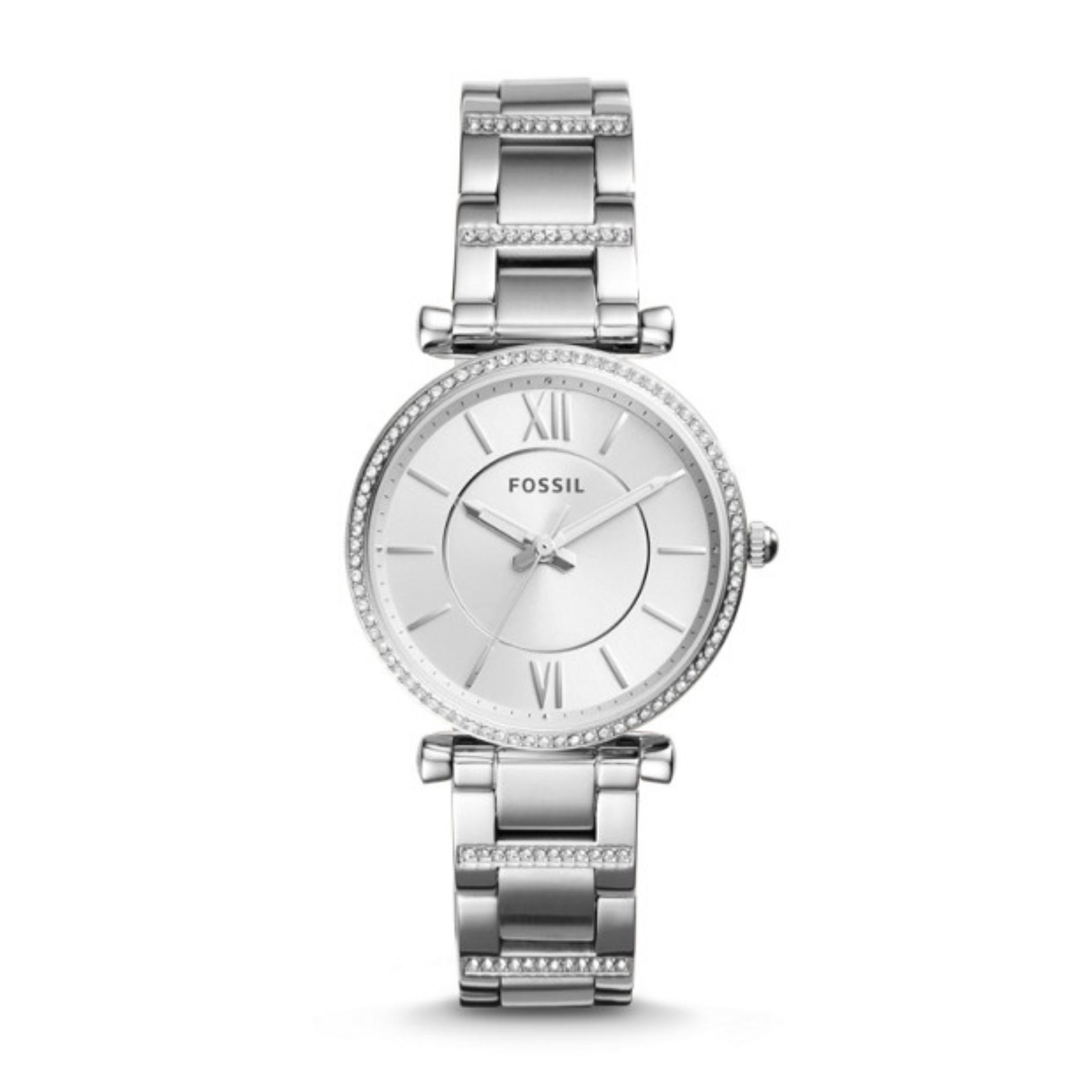 Fossil Es4036 Jam Tangan Wanita Stainless Steel Silver Daftar Es 4036 Original Es4341 Carlie Ladies Watch