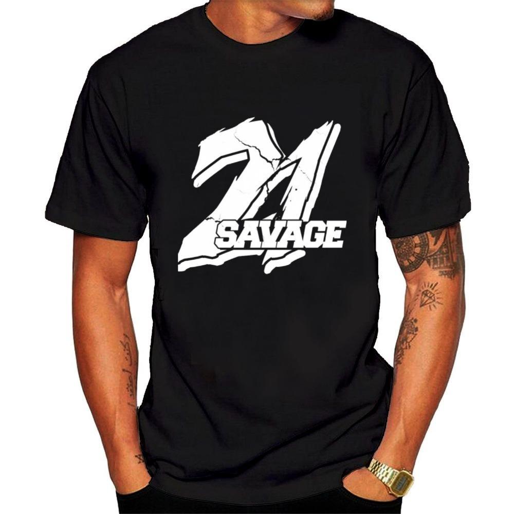 Gaya Desain Mode Terkini 2018 Baru Kedatangan 21 Savage Hip Hop Tshirts Merek Pakaian Pria Kaos