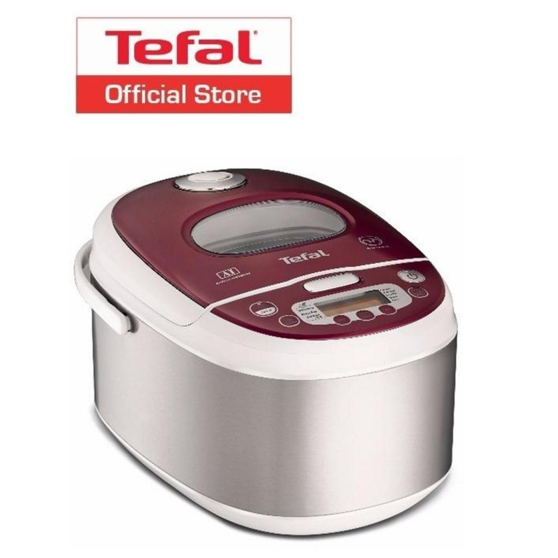 Deals For Tefal Advanced 10 Program Spherical Pot Fuzzy Logic Rice Cooker 1L Rk8115