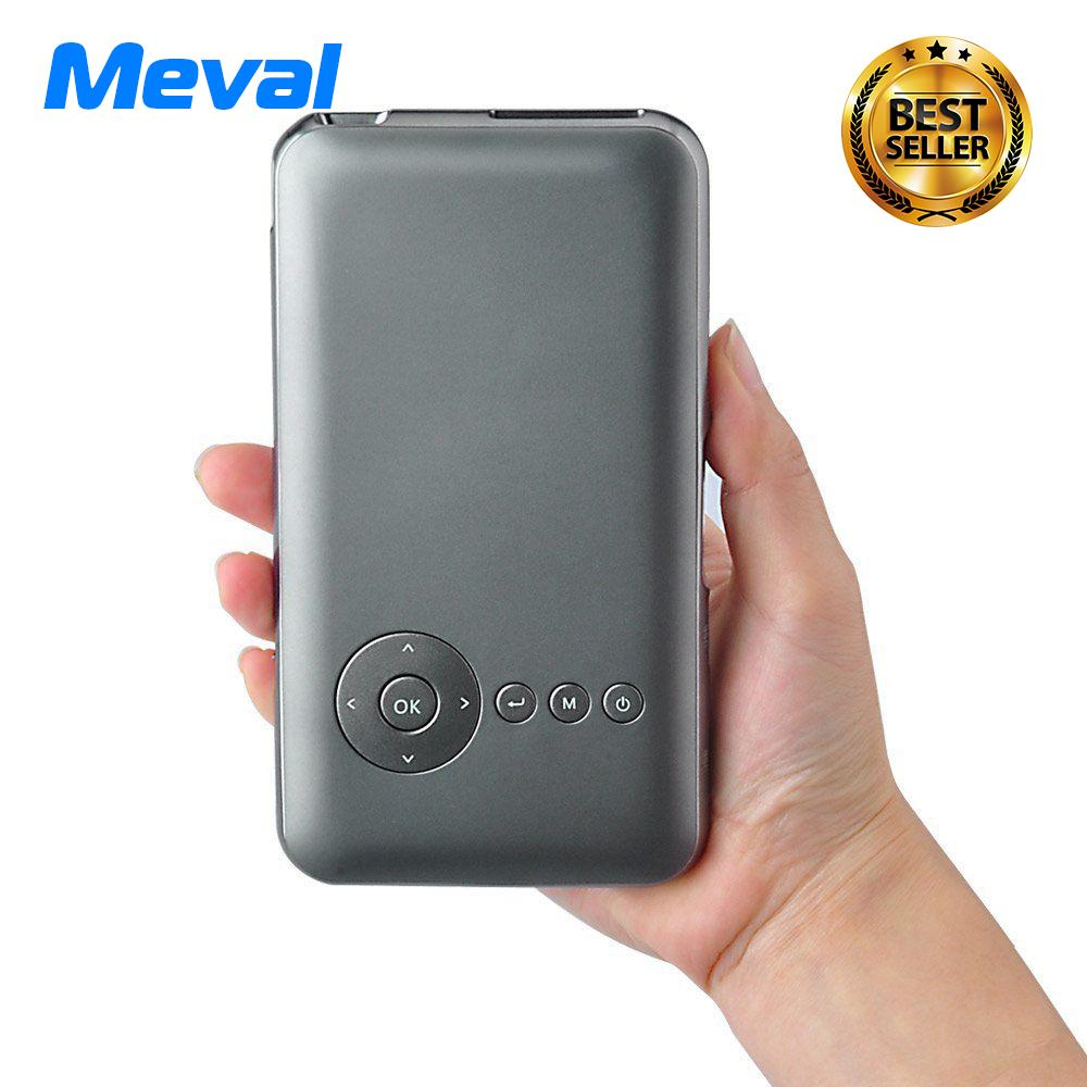 List Price Meval S6 Portable Mini Pico Projector Android Wifi Bluetooth Iphone Home Theater Intl Meval