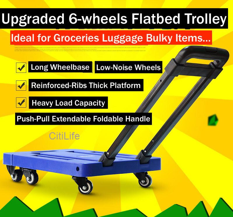 Foldable Trolley Hand Carry Expandable And Compact Easy To Keep◆ Up To 150Kg Load Easy Maneuver Lowest Price