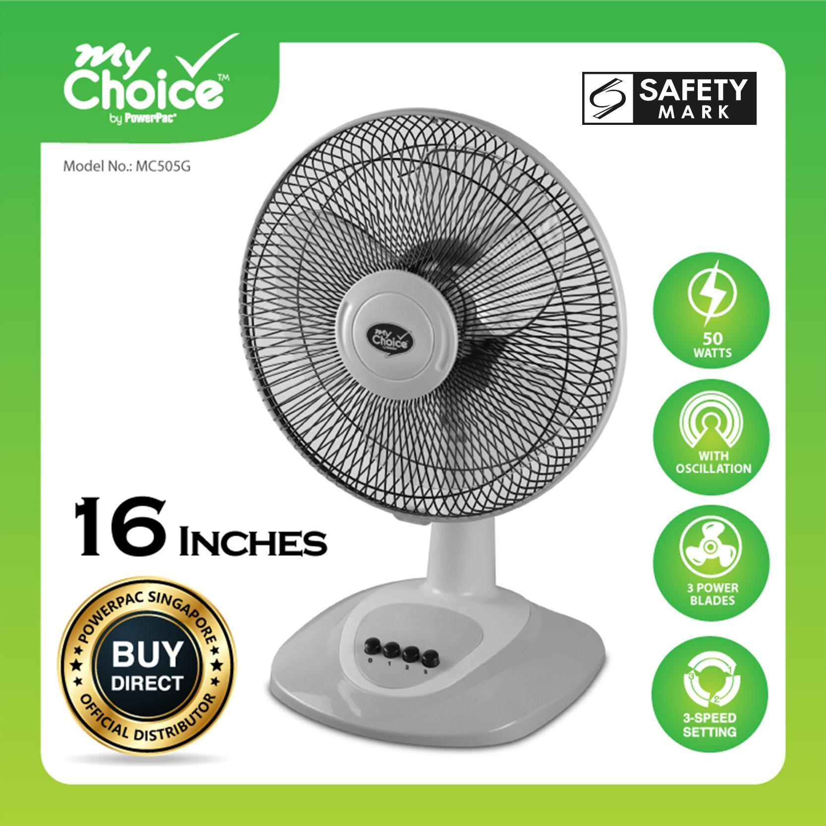 My Choice Powerpac 16 Inches Desk Fan With Oscillation Mc505